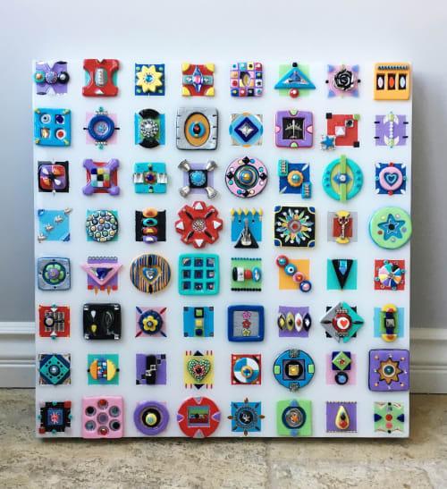 "Art & Wall Decor by Cami Levin seen at Creator's Studio, Dana Point - ""Daydream"" - Cube Art Series - 20x20x2"""