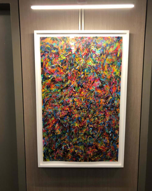 Paintings by Phillip Michaels seen at Oskar - Luxury Apartments, New York - painting
