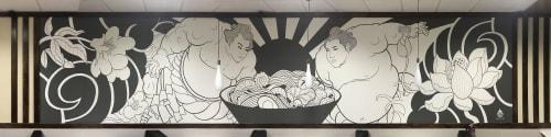 Murals by Daren Lin 大任物 seen at Tokyo Ramen & Sushi Burrito At Fruit Cove, Jacksonville - Sumo