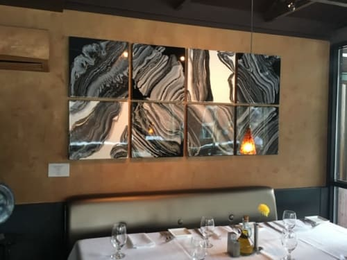 Paintings by Niki Woehler seen at Cosmopolitan Restaurant, Telluride - Stepping Stones