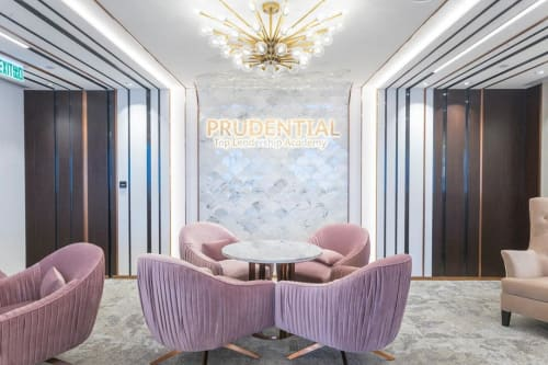 Wall Treatments by Agape seen at Prudential Insurance Building - Resin Art