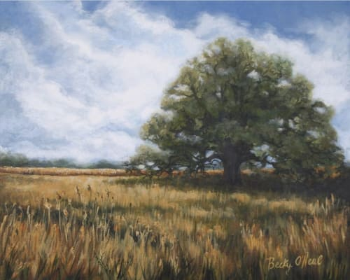 Paintings by Becky O'Neal seen at Private Residence - Distant Fields