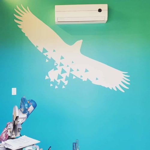 Murals by Liesl • Design Paint Mural seen at Private Residence, Squamish - Logo replication