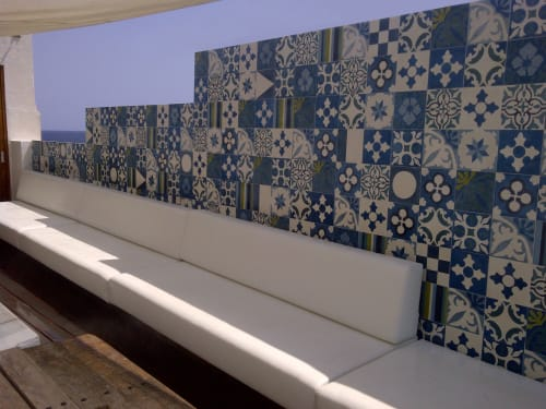 Tiles by Huguet Mallorca seen at Zhero Hotel Mallorca, Cas Català - Custom Tiles