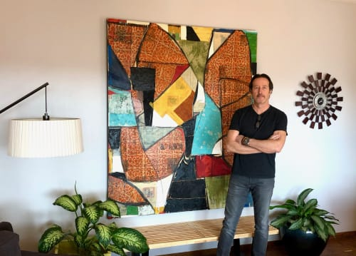 "Paintings by Brad Ellis - Artist at Private Residence, Austin - Painting: ""The Avatar"""