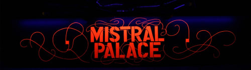 Art & Wall Decor by Jill Strong Signs seen at Mistral Palace, Valence - Mistral Palace luminous sign