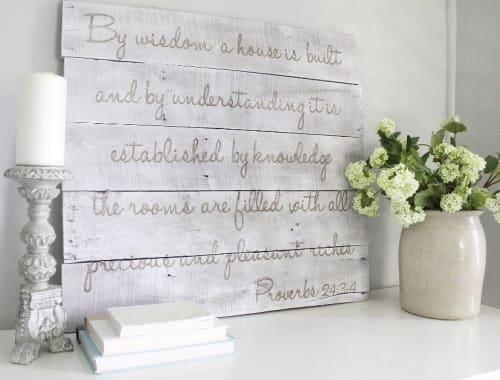 Art & Wall Decor by Marking Remarks seen at Private Residence, Forest - By wisdom