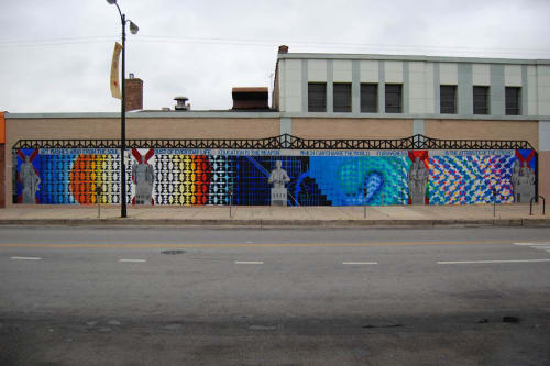Street Murals by Mark Elder seen at E 91st St, Chicago, IL, Chicago - Mural at 91st ST