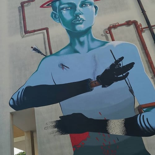 Street Murals by Ale Senso seen at Melendugno, Melendugno - Oxida Terra Mare