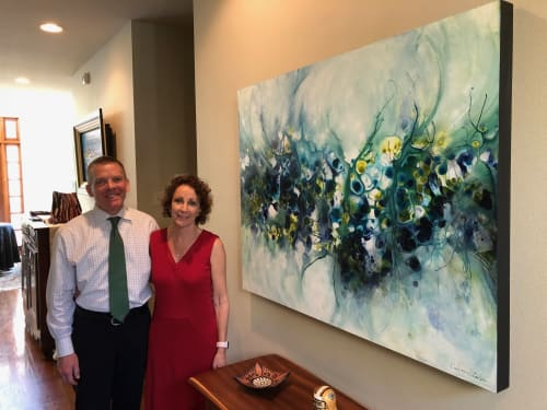 Paintings by Kim Howes Zabbia seen at Private Residence, Ponchatoula - Flight