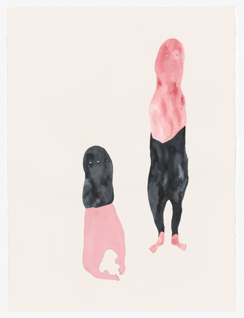 Paintings by Pip Ryan seen at Private Residence, Melbourne - Bandits, watercolour, gouache, pencil on paper
