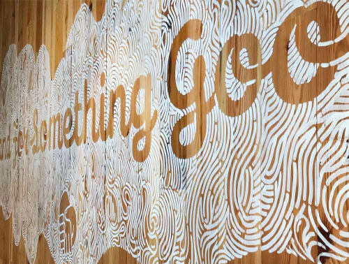 Murals by Jesse Hora seen at West Loop, Chicago - Stand For Something Good Shake Shack Mural