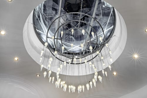 Chandeliers by Clartés Bohemia at Dancing House - Crystal Chandelier