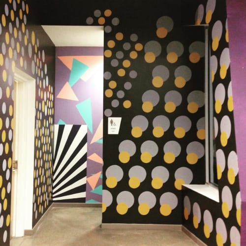 Murals by Michelle Weinberg seen at Young At Art Museum, Davie - Exit the Fun House