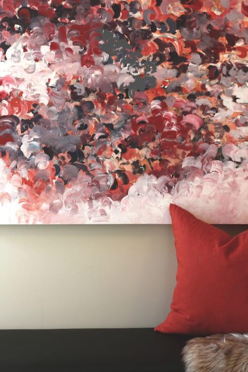 Paintings by kimberdean art + design seen at Oak Bay Beach Hotel, Victoria - Smolder