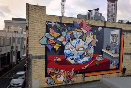 Street Murals by John Kaye seen at Southport, Southport - Easy To Break Hard To Kill