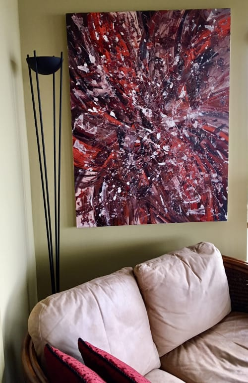 Paintings by Erin Cooke at Private Residence, Seattle - Splatter Abstraction VIII