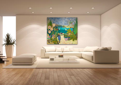 Paintings by Jill Krasner Studios,LLC seen at Private Residence, Sarasota - Paradise