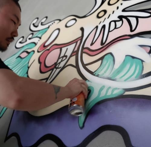 Murals by HongSik Kim seen at Ryse Hotel, Yanghwa-ro - Rags To Riches