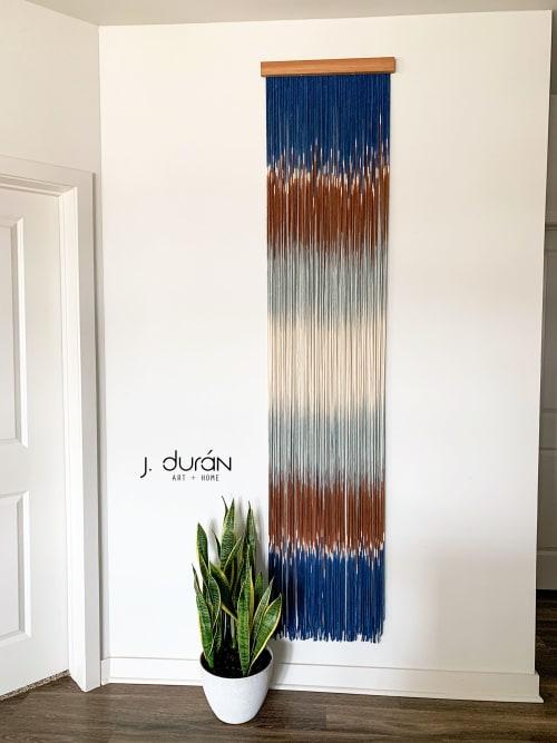 Mignight Jaffa Macrame Wall Hanging / Fiber Art | Macrame Wall Hanging by Jay Durán @ J. Durán Art + Home | Dallas in Dallas
