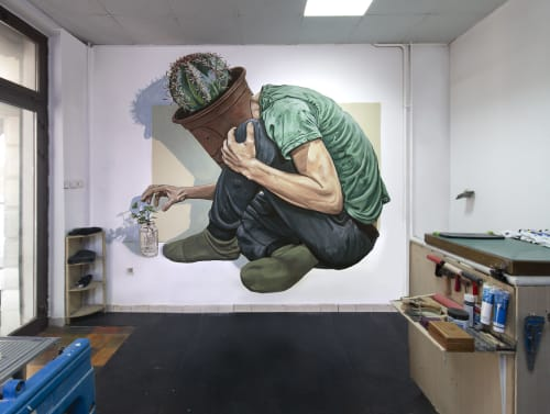Murals by Anthony Brooks seen at Belgrade, Belgrade - Home