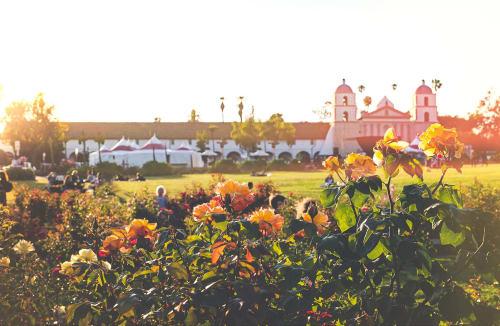 Santa Barbara Mission Rose Garden | Photography by Kara Suhey Print Shop