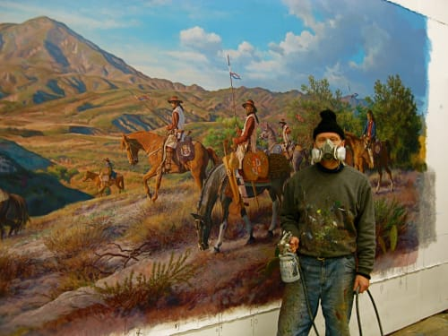 Murals by Robert Evans Murals, Inc. seen at Laguna Hills City Hall, Laguna Hills - Discovering Orange County