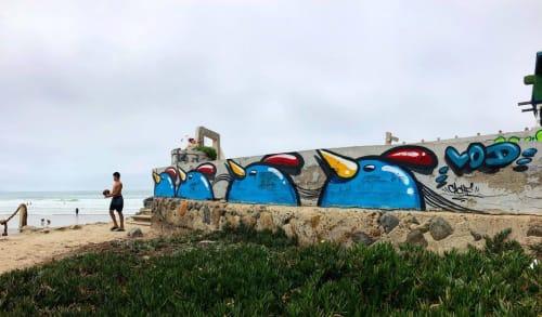 Street Murals by Cache seen at El Faro de Bucerías, El Faro de Bucerías - Beach Wall Mural