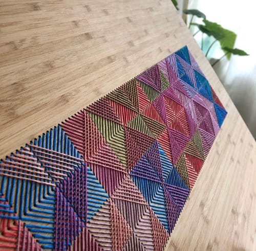 Crosshatch Collection | Wall Hangings by Nosheen iqbal | Capital One Campus in Plano