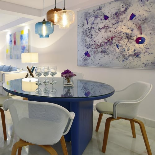 Lamps by Flam & Luce Luminaires seen at Mykonos Grand Hotel & Resort, Agios Ioannis - Wood lamp