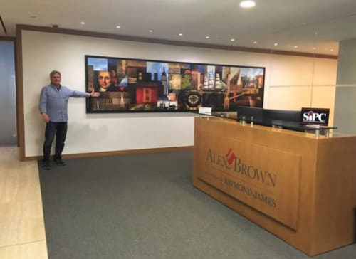 Interior Design by Art Solutions seen at Alex.Brown, A Division of Raymond James, New York - Financial Services Company Art Installation, NYC