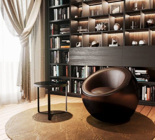 Chairs by Mavimatt seen at Private Residence, Moscow - METEORA Pouff