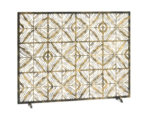 Fireplaces by Claire Crowe Collection seen at Private Residence, Dallas - Tapestry Fire Screen