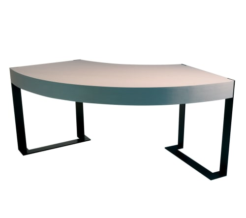 Furniture by Antoine Proulx, LLC seen at Private Residence, Boston - DK-95 Desk Arc Shaped in Smoke Gray Ash