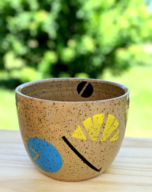 Vases & Vessels by Love Studio Ceramics seen at Love Studio Ceramics Studio, Austin - Speckled Clay Planter