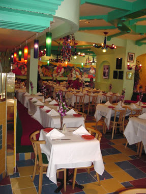 Pendants by CP Lighting at Mama Mexico Restaurant, New York - Popsicle Pendants at Mama Mexico Restaurant