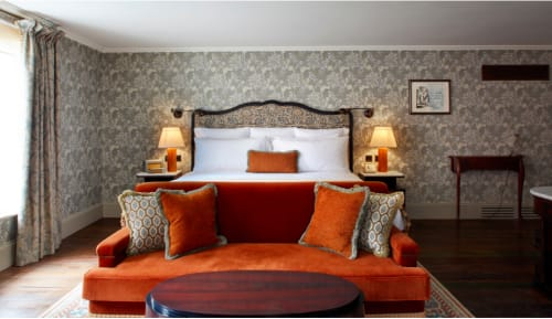 Art & Wall Decor by Sara J Beazley seen at Kettner's, London - 'Boudoir Series' for Kettner's hotel bedrooms