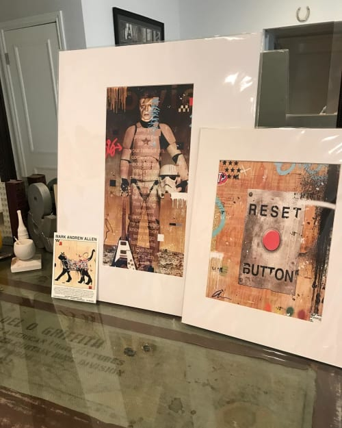 Art & Wall Decor by Mark Andrew Allen seen at Private Residence, Beverly Hills - Bowie and Reset Button