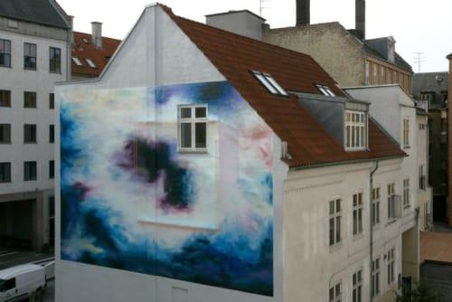 Street Murals by SHJWORKS seen at Nørrebro, Copenhagen - A Lucid Symmetry