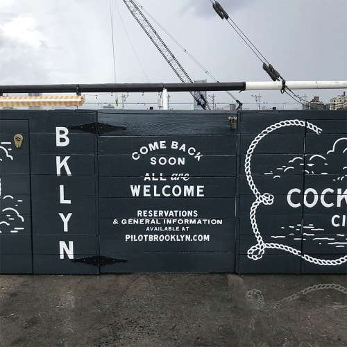 Murals by Very Fine Signs seen at PILOT, Brooklyn - Pilot Brooklyn