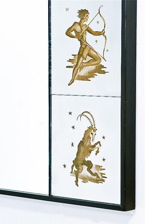 Zodiac Mirror Frame (verre eglomise)   Interior Design by Vesna Bricelj