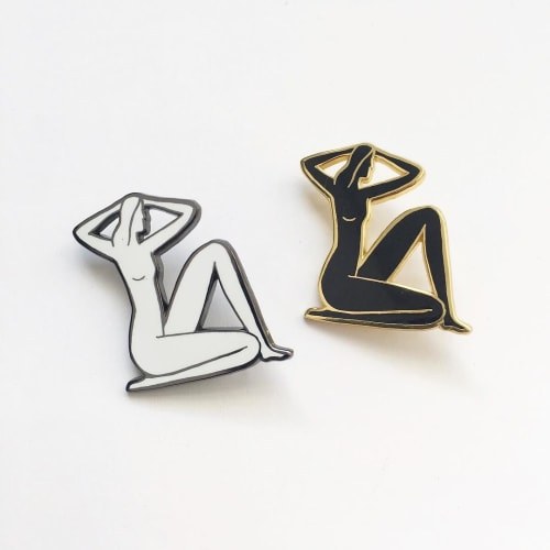 Apparel & Accessories by Kaye Blegvad seen at Artist Studio Brooklyn, Brooklyn - Seated Nude Pins