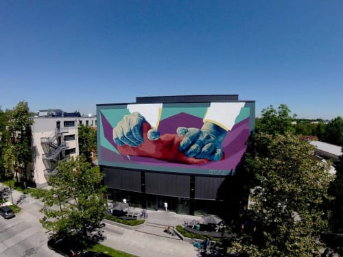 Murals by Alan Myers seen at Museum of Urban and Contemporary Art, München - Hands