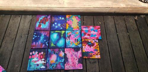 Paintings by Petrabaye seen at Brady Arts District, Tulsa - Petrabaye Art