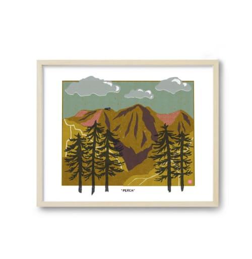 Paintings by Birdsong Prints seen at Creator's Studio, Denver - Mountain Art Print