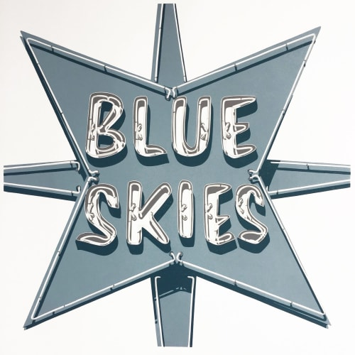 """Art & Wall Decor by Dave Lefner seen at The Brewery Artist Lofts, Los Angeles - """"Nothing but..."""" (Blue Skies)"""