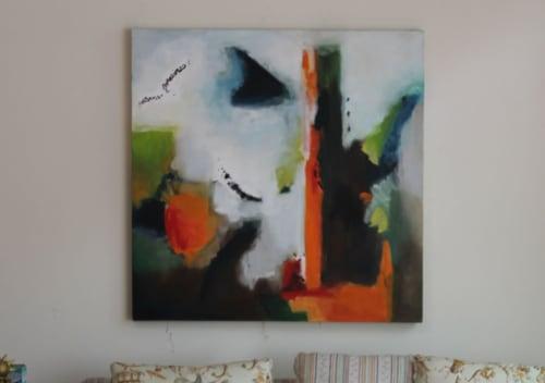 Paintings by Cecilia Arrospide at Private Residence, Miraflores, Comas, Comas - ORANGE HORIZON