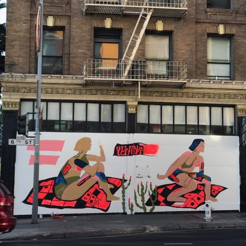 Murals by Lena Gustafson seen at FIRST AMENDMENT GALLERY, San Francisco - Exterior Mural