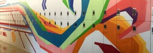 Murals by Erwin Erkfitz seen at KPMG, Grand Rapids - Rainbow Vines