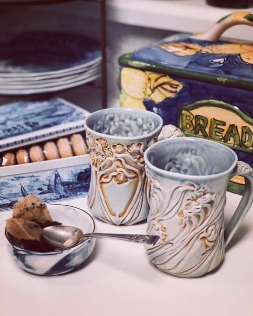 Cups by Lora Rust Ceramics seen at Private Residence, Atlanta - Mugs and Cups